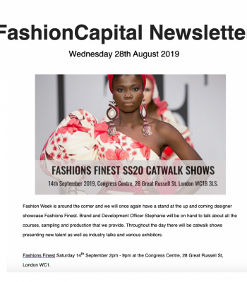 Fashion capital Newsletter Aug