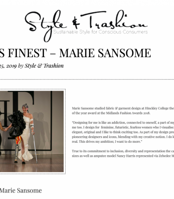 style and trashion Marie Sansome