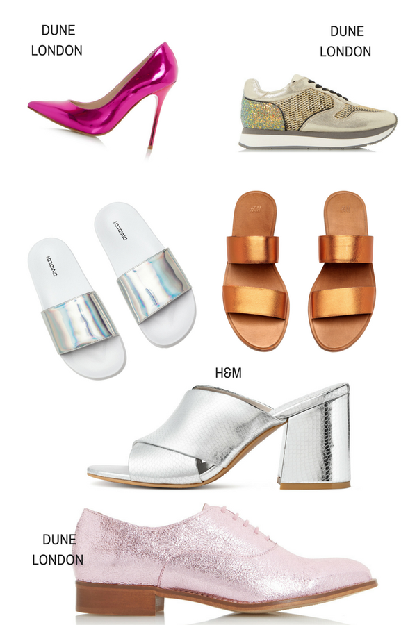 Metallic shoes result
