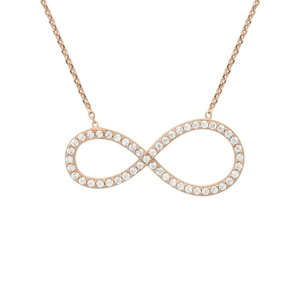 Sparkle Infinity necklace Rose Gold ALEXI result