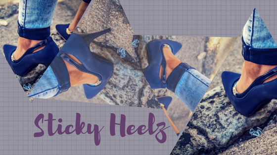 Sticky Heelz anti slip shoe system