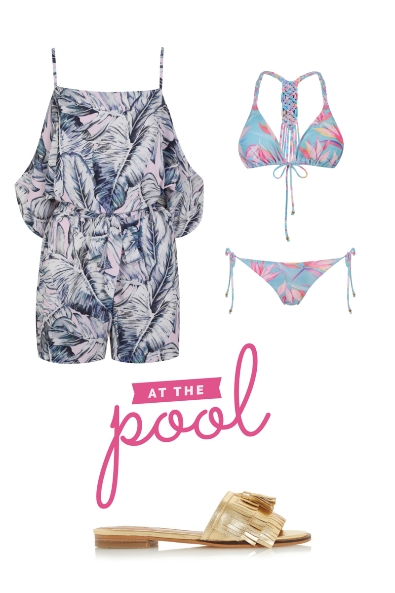 playsuit what to wear to a pool party
