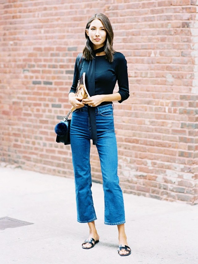 7 rules for wearing cropped flared jeans 1635362 1453848640.640x0c