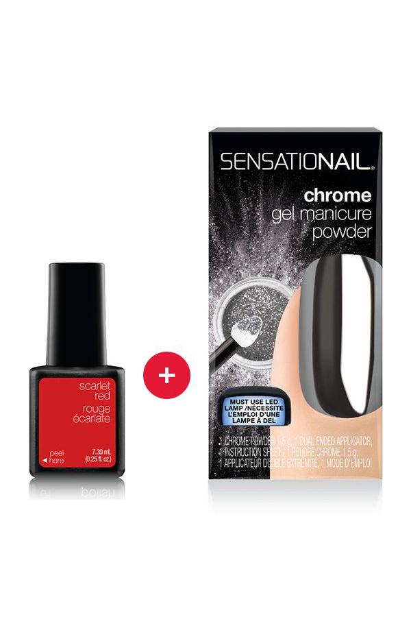 Chrome Gel Manicure Powder + No Wipe Topcoat Duo