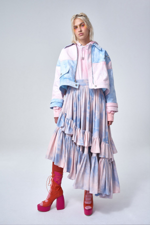 Katie McGuigan SS20 Inspired by 70's Roller-disco Scene